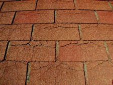 Dry Cracked Shingles